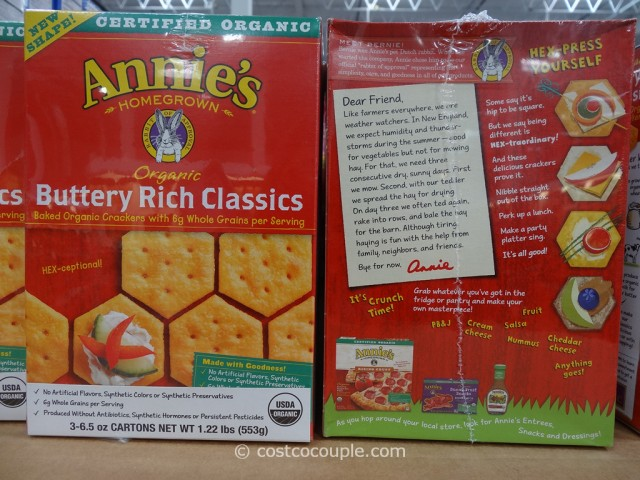 Annies Buttery Rich Organic Crackers Costco 1