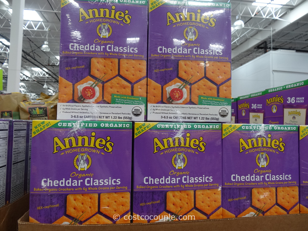 Annies Cheddar Classics Organic Crackers Costco 1