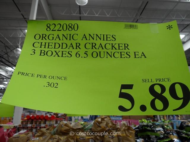 Annies Cheddar Classics Organic Crackers Costco 3