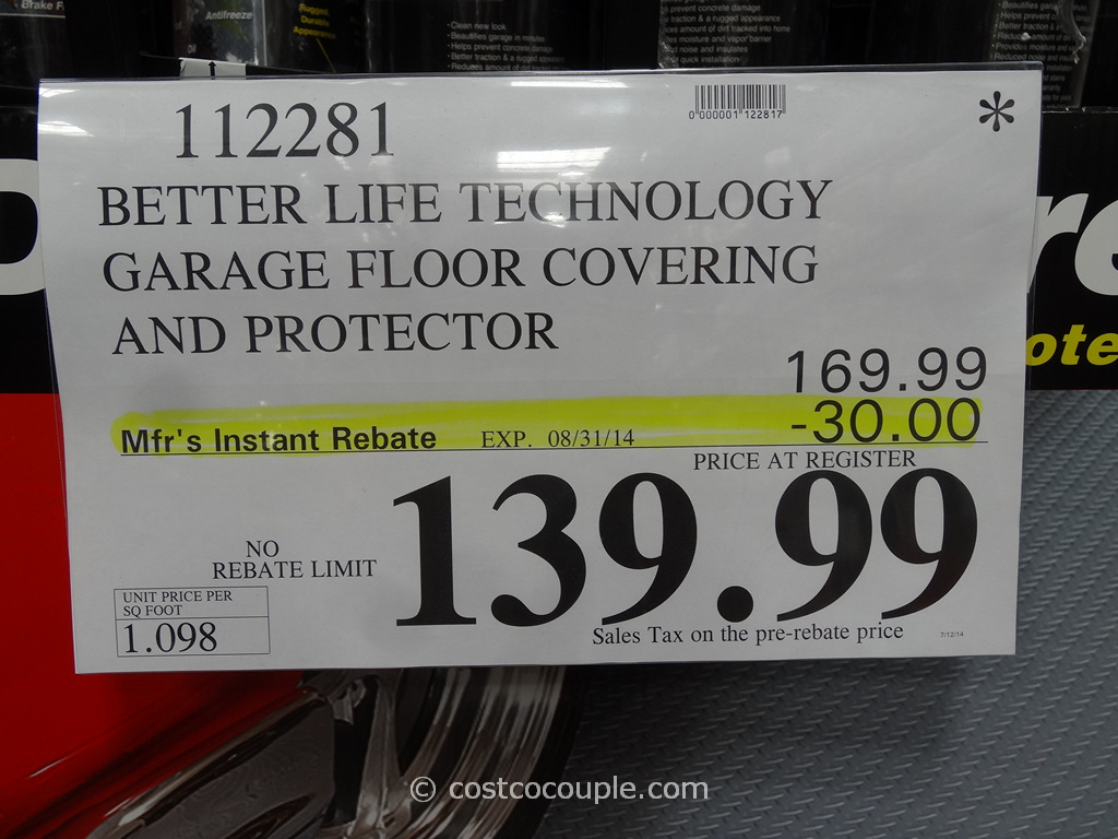 Better Life Technology Garage Floor Covering