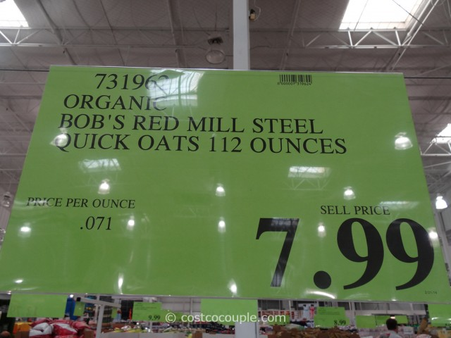Bobs Red Mill Organic Quick-Cooking Steel Cut Oats Costco