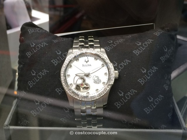 Bulova Ladies Automatic Diamond Bezel Watch Costco 1