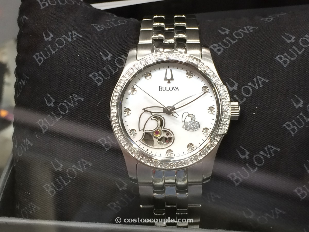 Bulova Ladies Automatic Diamond Bezel Watch Costco 3