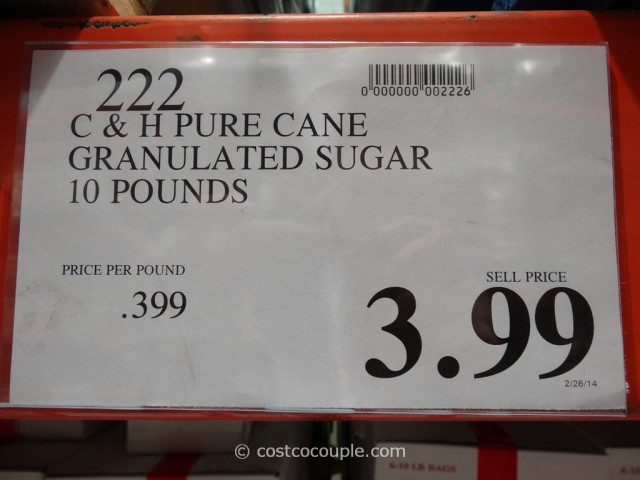 C & H Pure Cane Granulated Sugar 10 lbs Costco 2