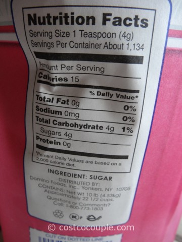 C & H Pure Cane Granulated Sugar 10 lbs Costco 3