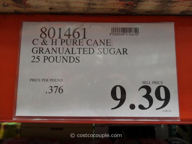 C & H Pure Cane Granulated Sugar 25 lbs Costco 2