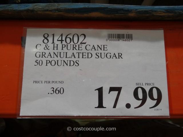 C & H Pure Cane Granulated Sugar 50 lbs Costco 1