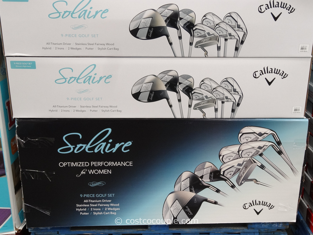 Callaway 9-Piece Ladies Solaire Golf Club Set Costco 3