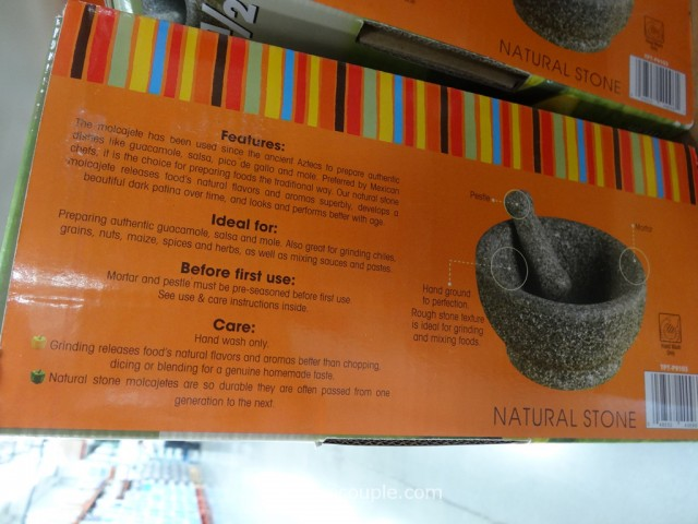 Casa Maria Natural Stone Mortar and Pestle Set Costco 4