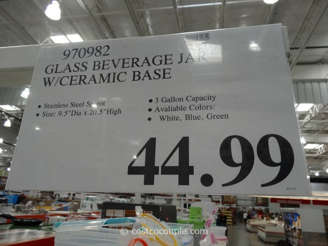 Ceramic Beverage Jar Costco 3