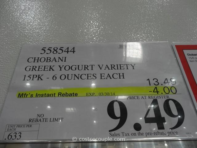 Chobani Greek Yogurt Costco 1