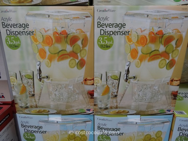 CreativeWare Acrylic Beverage Dispenser Costco 4