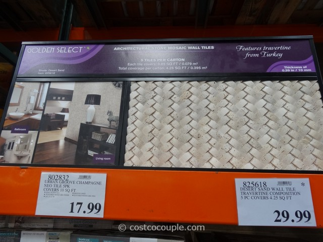 Golden Select Architectural Stone Mosaic Wall Tiles Costco 1