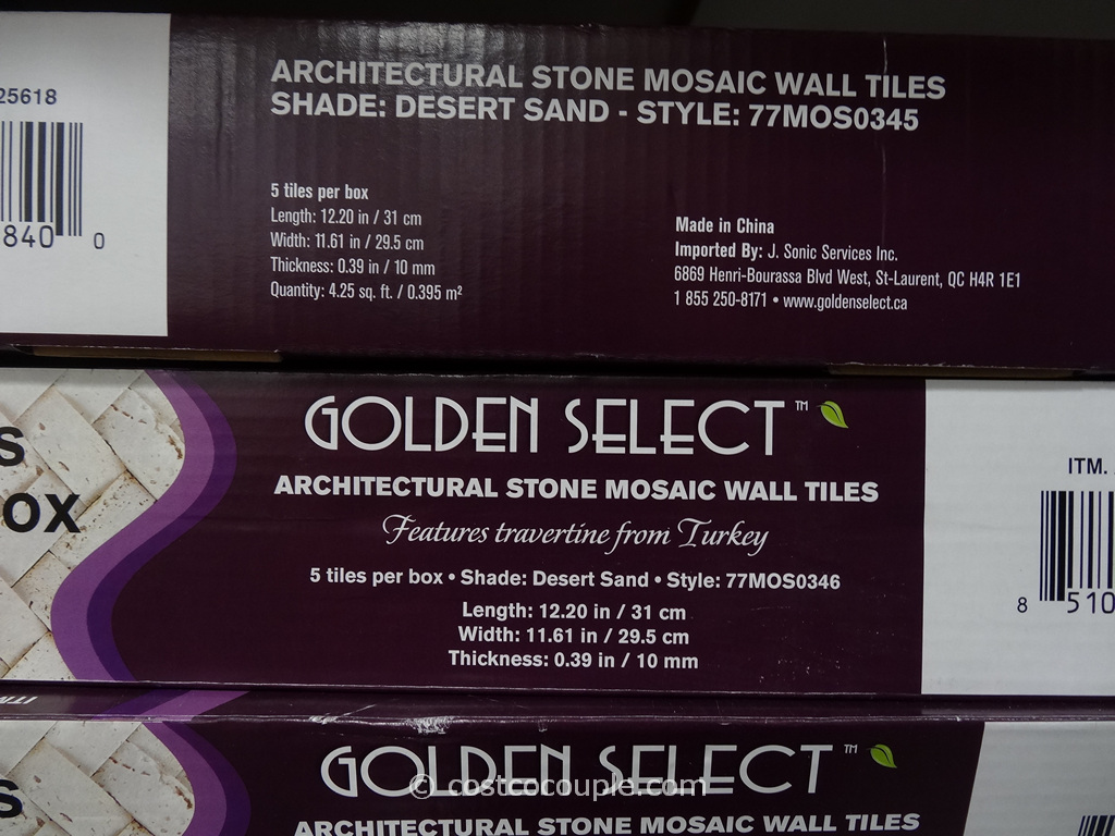 Golden Select Architectural Stone Mosaic Wall Tiles
