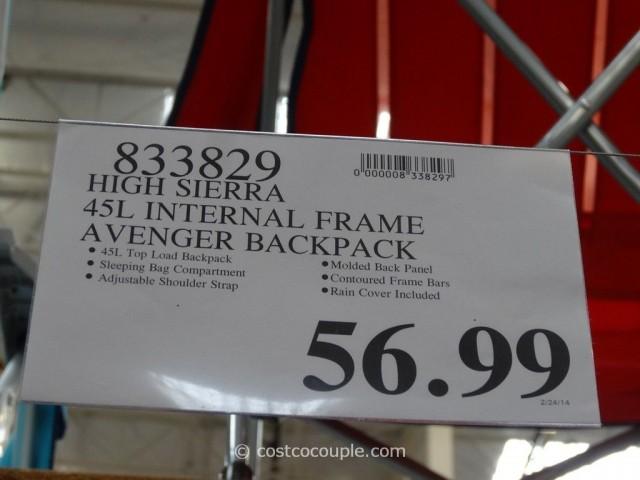 High Sierra Avenger 45L Backpack Costco 1
