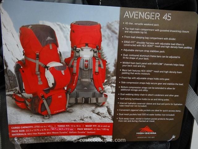 High Sierra Avenger 45L Backpack Costco 4