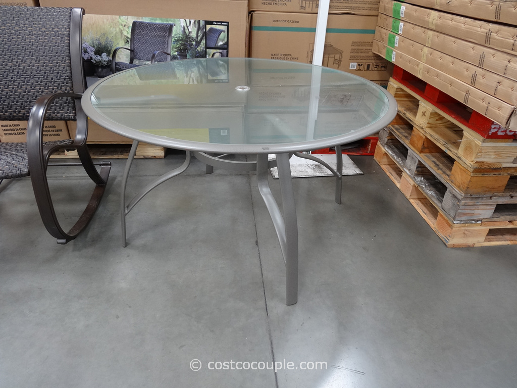 Kirkland Signature 50-Inch Patio Table Costco 1