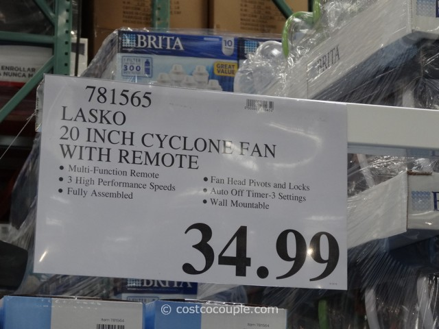 Lasko 20-Inch Cyclone Fan Costco 5