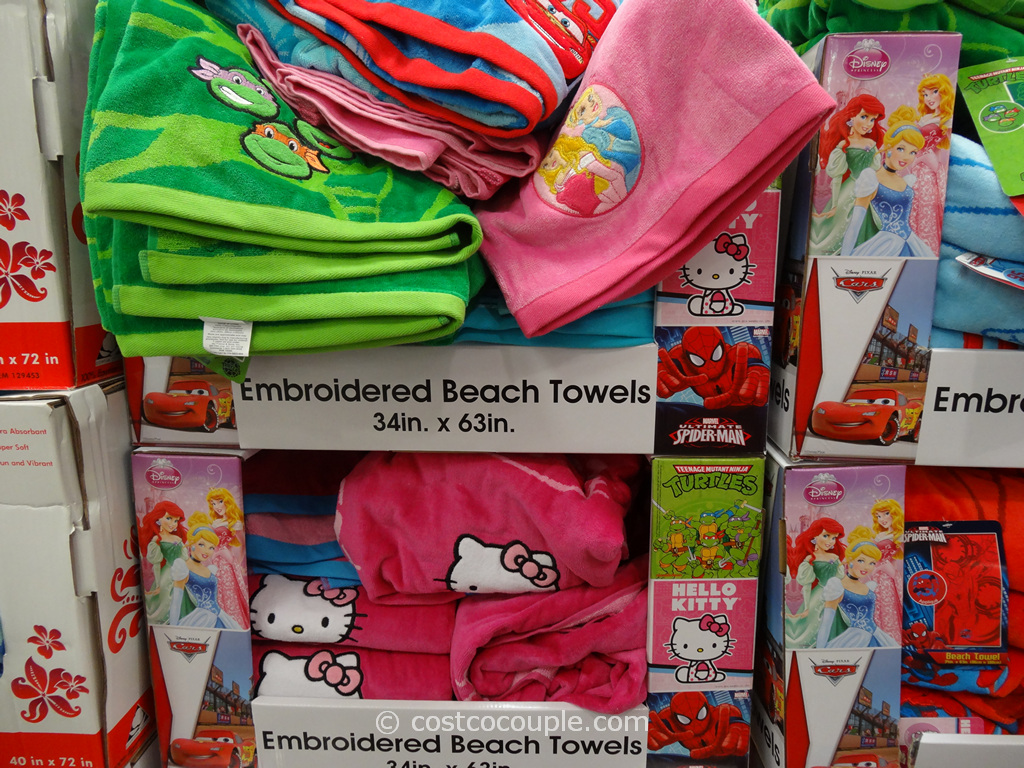 Licensed Embroidered Beach Towels Costco 1