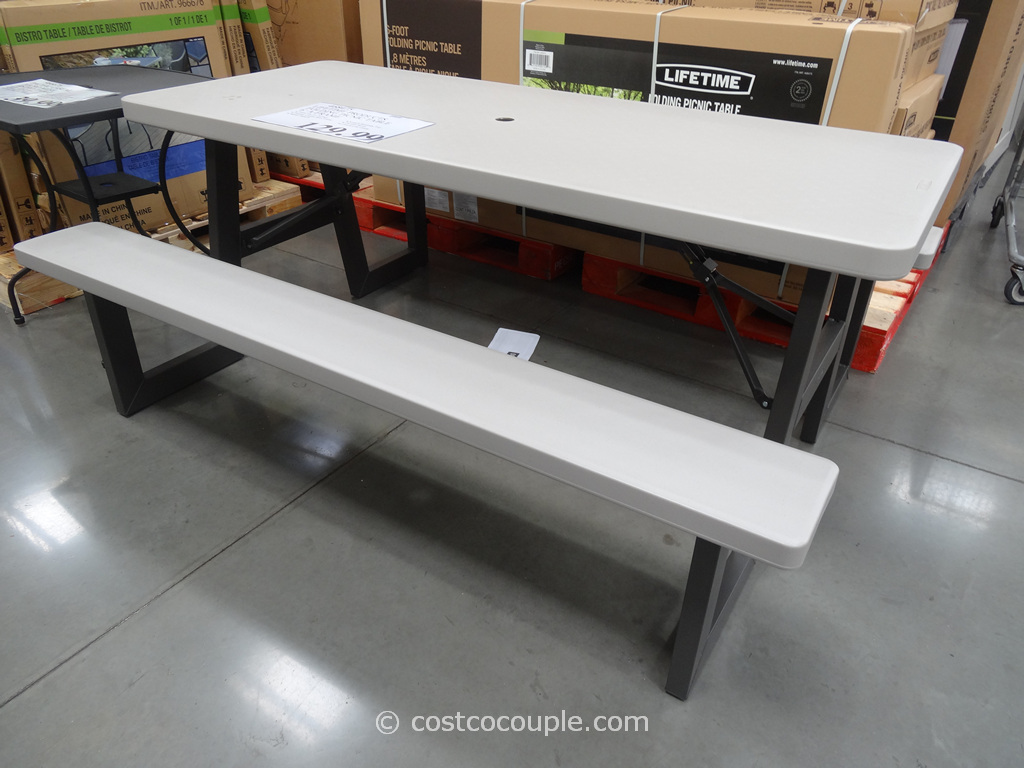 Lifetime Products 6-Foot Folding Picnic Table Costco 2