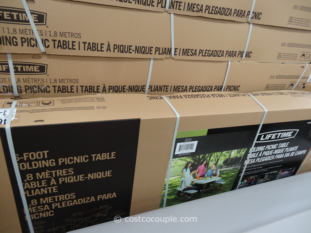 Lifetime Products 6 Foot Folding Picnic Table Costco 4