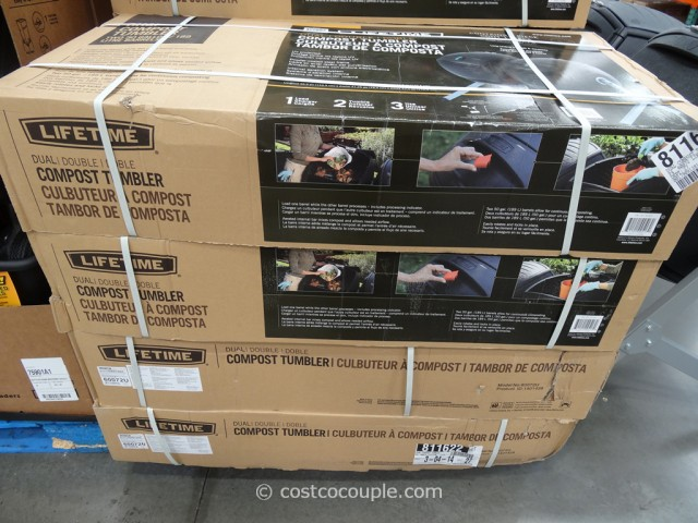 Lifetime Products Dual Composter Model#60072 Costco 4
