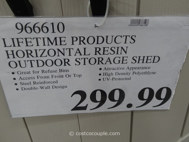 Lifetime Products Horizontal Resin Outdoor Storage Shed Costco 2
