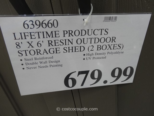 Lifetime Products Resin Outdoor Storage Shed Costco 2