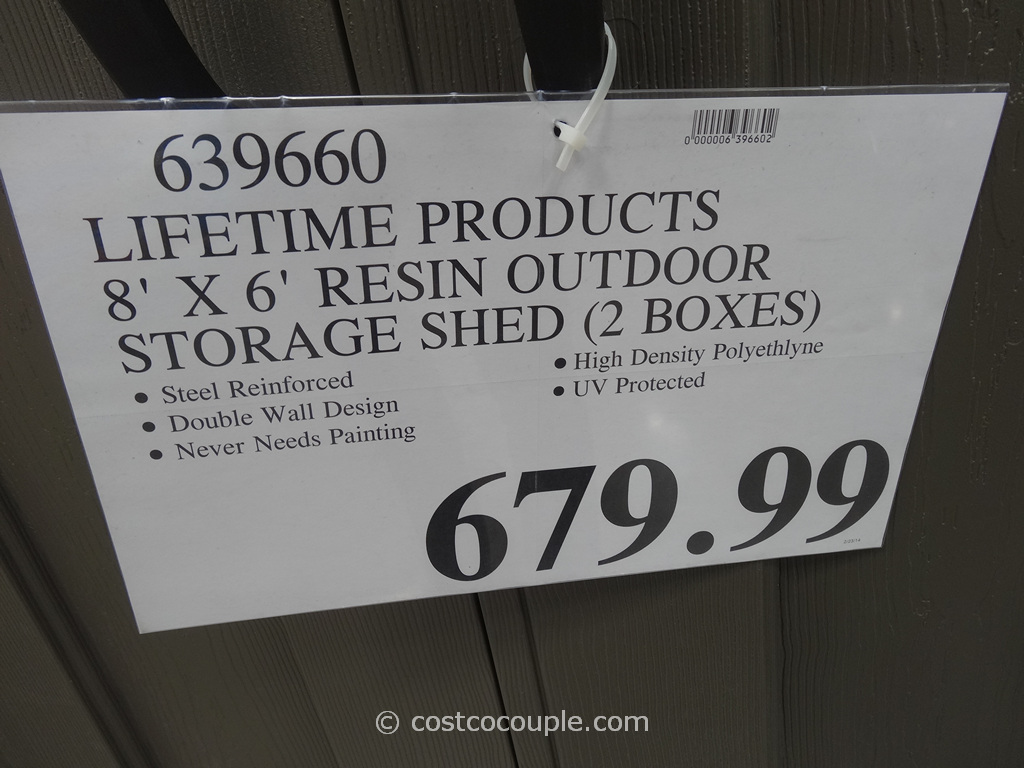 Lifetime Products Resin Outdoor Storage Shed