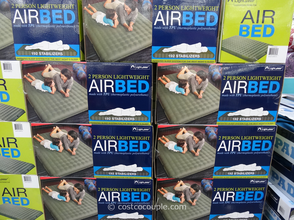 Amazon.com : Lightspeed Outdoors 2-Person PVC-Free Air Bed with ...