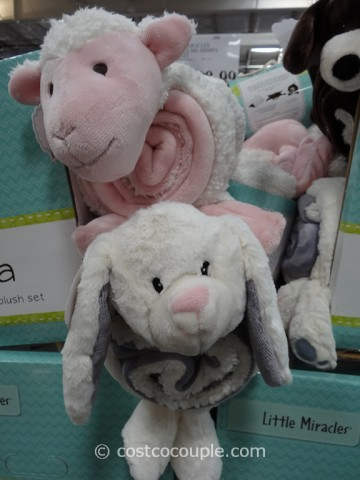 Little Miracles Snuggle Me Sherpa Blanket Costco 1