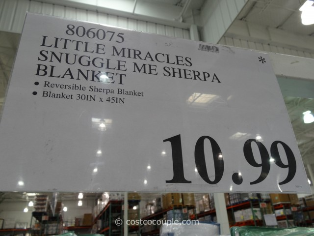 Little Miracles Snuggle Me Sherpa Blanket Costco 4