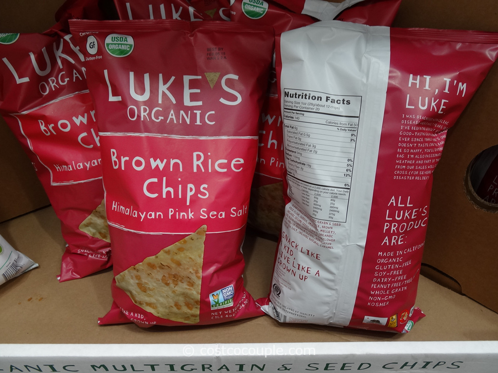 Lukes Organic Brown Rice Chips Costco 5
