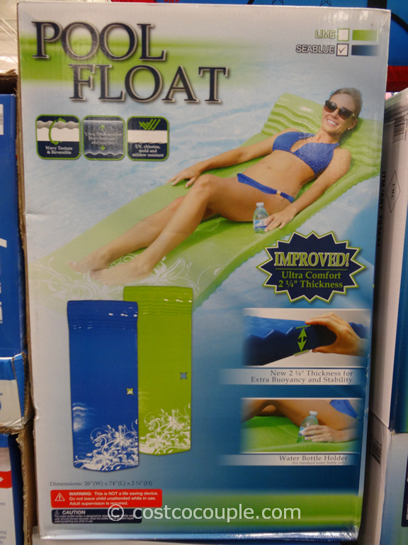 Luxury 2.25-Inch Pool Float Costco 1