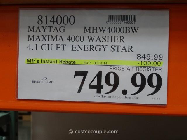 Maytag Maxima 4000 Washer Costco