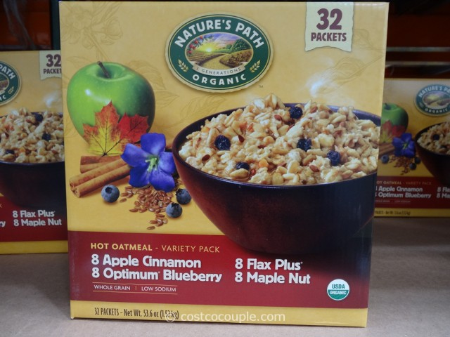 Natures Path Organic Hot Oatmeal Variety Pack Costco 3