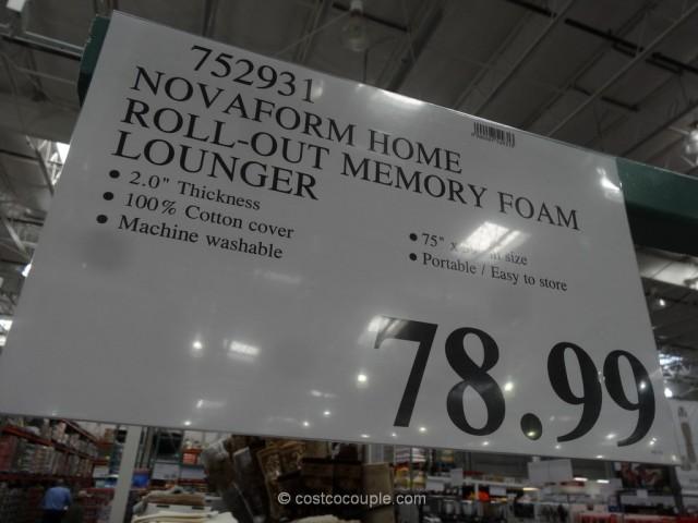 Novaform Home Roll-Out Memory Foam Lounger Costco 1