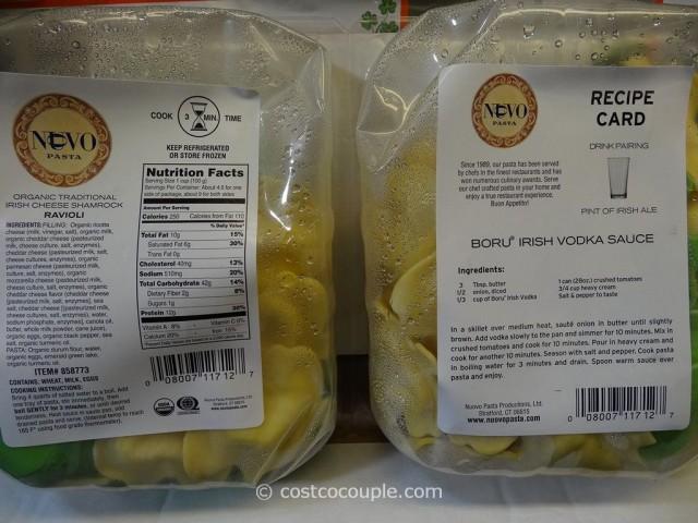 Nuovo Pasta Organic Shamrock Ravioli Costco 2
