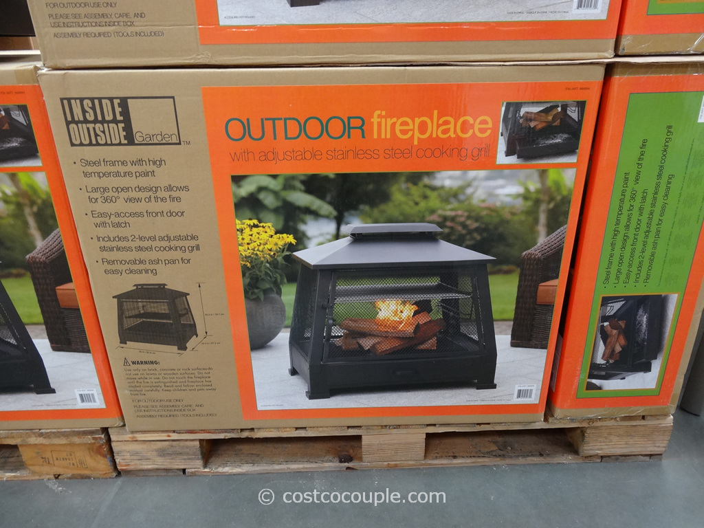 Outdoor Fireplace with Cooking Grate Costco 3 ... - Outdoor Fireplace With Cooking Grate