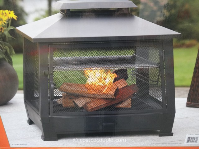 Outdoor Fireplace with Cooking Grate Costco 5