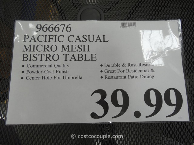 Pacific Casual Micro Mesh Bistro Table Costco 1