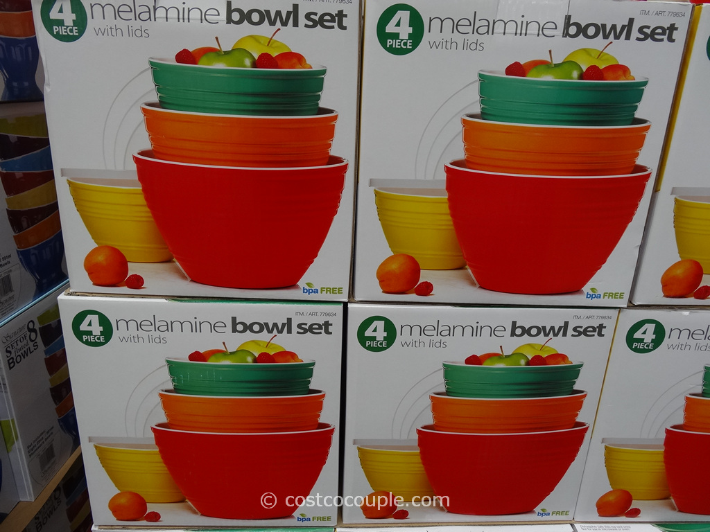 Pandex 4 Piece Melamine Bowl Set