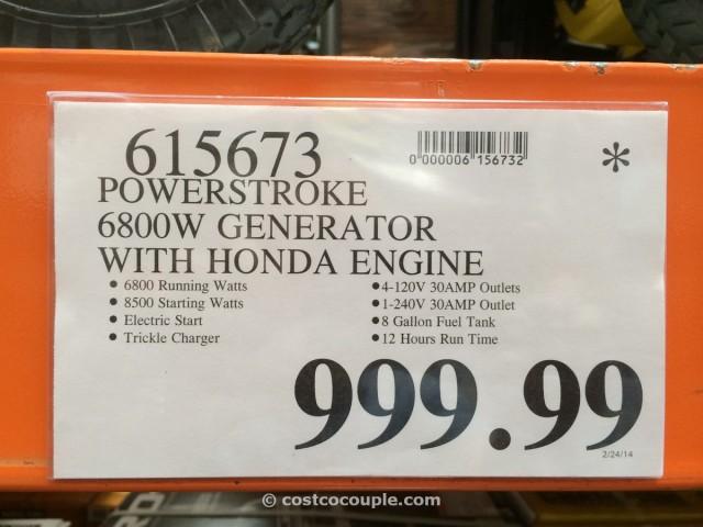 Powerstroke 6800W Generator Costco 2