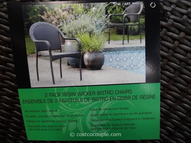 Resin Wicker Bistro Chairs Costco 1