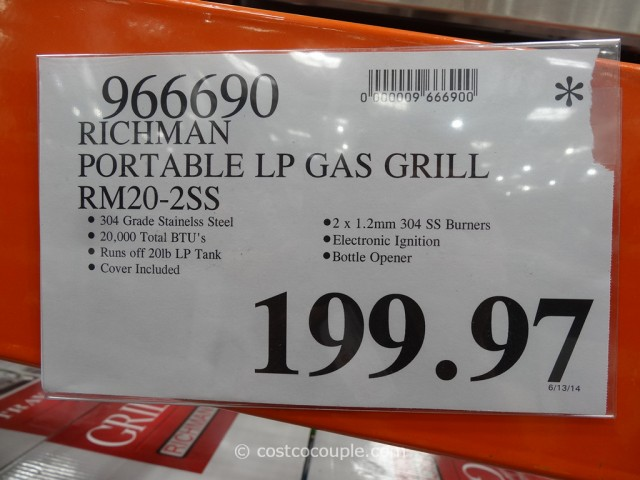 Richman Portable LP Gas Grill Costco