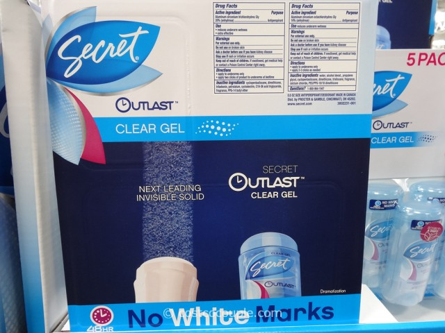Secret Outlast Clear Gel Antiperspirant Deodorant Costco 3