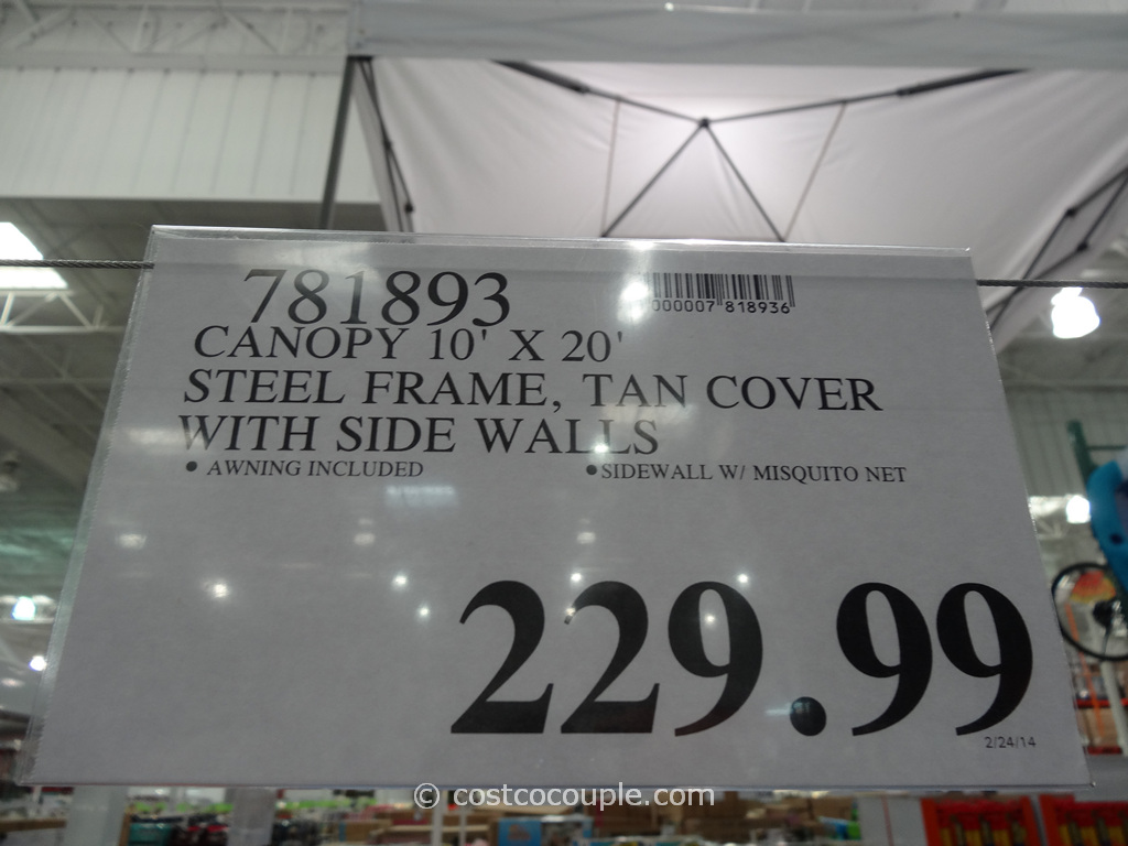 steel frame canopy with side walls costco 1