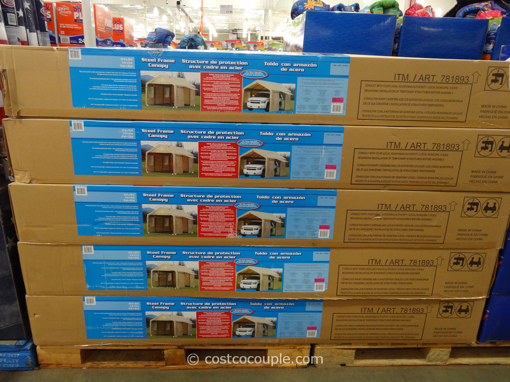 steel frame canopy with side walls costco 2