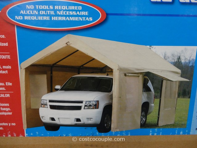 steel frame canopy with side walls costco 5