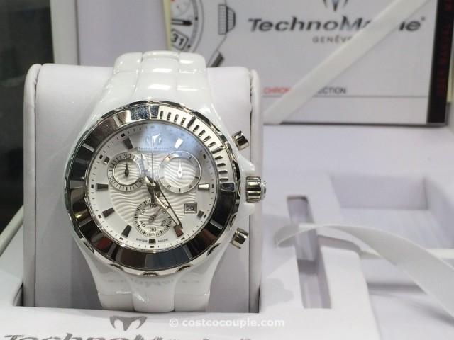 Technomarine Ladies Chronograph White Dial Ceramic Costco 1